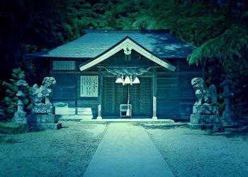 神社,村,屋外,夏,晴れ,ホラー
