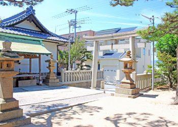 神社,村,屋外,夏,晴れ