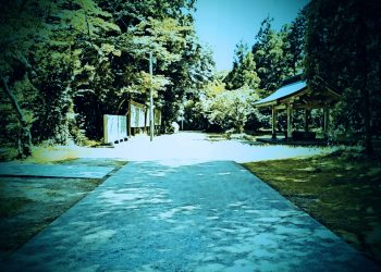 神社,町,晴れ,夏,屋外,ホラー